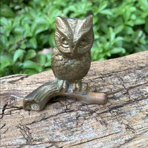 Vintage Brass Owl